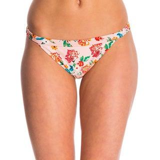 Minkpink Beach Please Pink Floral Teeny Bikini Bottom