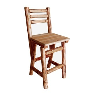 Rush Creek Brown Wood Bar Stool