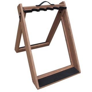 Rush Creek Brown Wood 10-Gun Folding Rack
