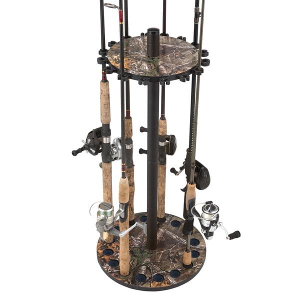 Realtree Round 16-rod Fishing Pole Rack