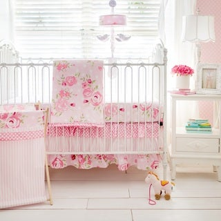 My Baby Sam Rosebud Lane 3-Piece Crib Bedding Set