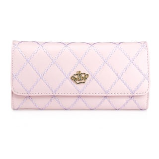 Gearonic Fashion Lady Check Plaid Faux Leather Women Wallet