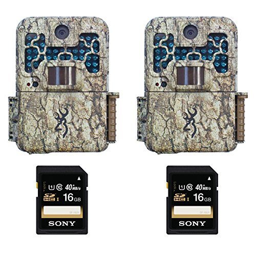 (2) Browning Recon Force BTC7FHD Digital Trail Game Camera and (2) 16GB Memory Cards