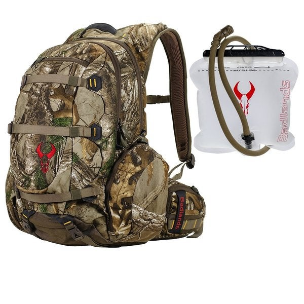 Badlands Superday Hunting Backpack (Realtree Xtra Camo) & 2L Hydration Reservoir