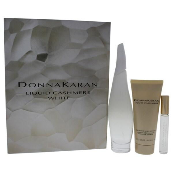 Senka White Beauty Lotion Ii Review: Shop Donna Karan Liquid Cashmere Mist White 3-piece Gift