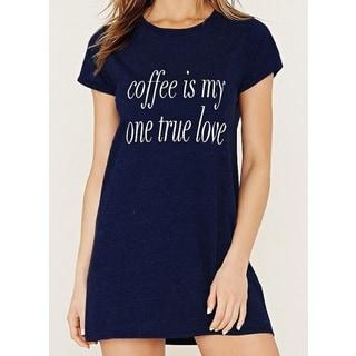 Riviera 'Coffee Is My One True Love' Blue Soft Cozy Nightshirt