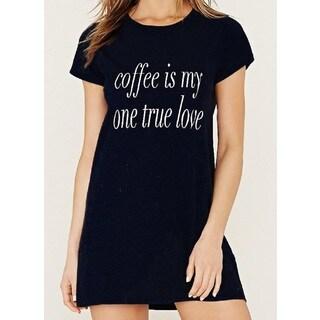 Riviera RAG Soft Cozy 'Coffee is My One True Love' Sleep Shirt