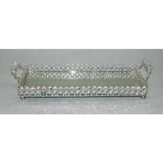 "Heim Concept Sparkle Crystal Mirror Tray -  L: 15"" x W: 6.75"""