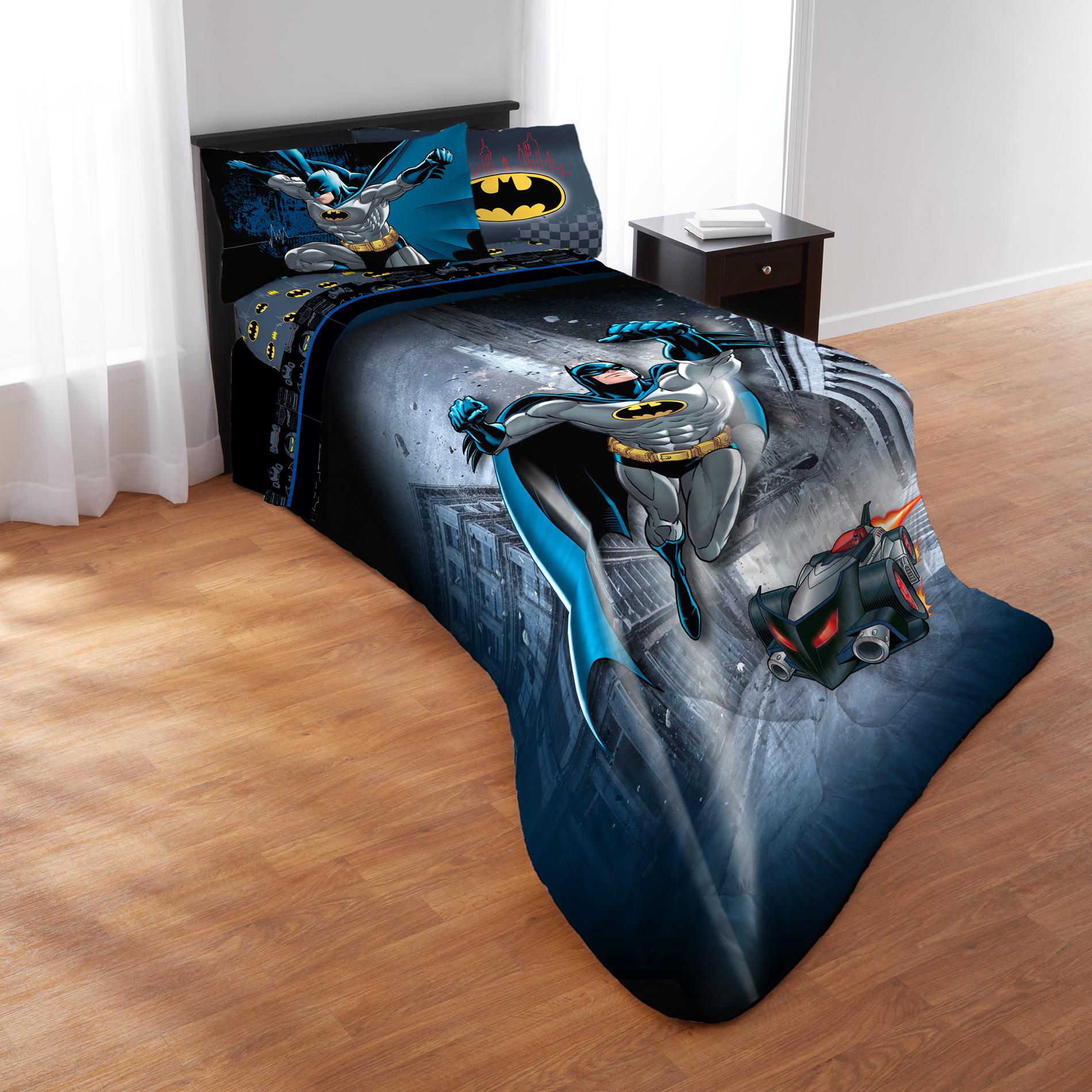 Batman Mask Bedding Set Duvet Cover+Sheet+Pillow Case Four-Piece Fitted Sheet