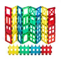 ShapeMags Assorted Colors 36-piece 3D Magnetic Tiles Set With 9 Different Shapes