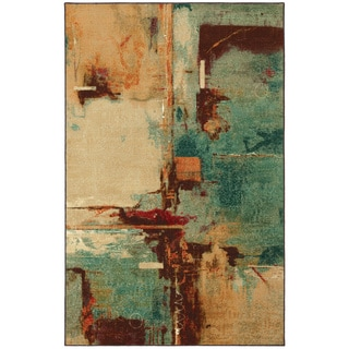 Mohawk Home Strata Aqua Fusion Set (Set Includes: 5'x8' Rug and Rug Pad)