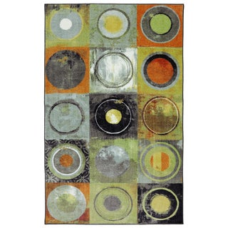 Mohawk Home New Wave Circle Fret Area Rug (7'6 x 11')