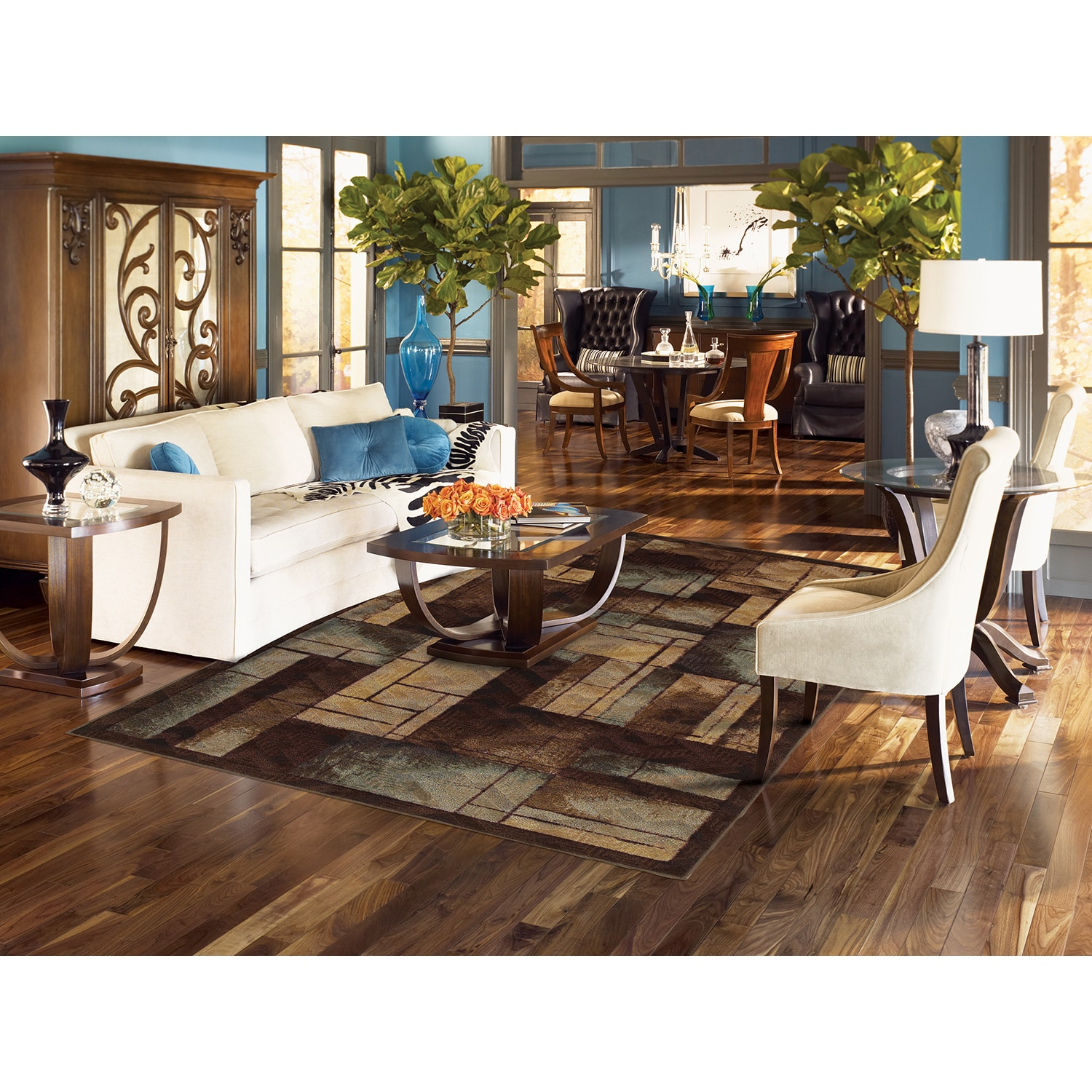 MOHAWK Home New Wave Roby Area Rug (7'6 x 11') (Roby Blue...