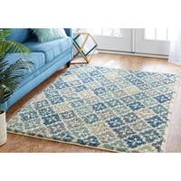Mohawk Home Laguna Aqua Panel Area Rug (8' x 10') - 8' x 10'