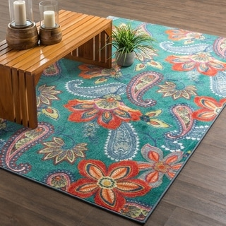 Mohawk Home New Wave Whinston Multi Set (Set Includes: 5'x8' Rug and Rug Pad)