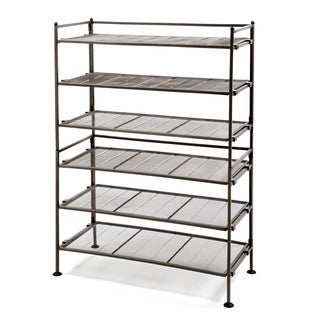 Seville Classics Bronze Iron Set of 2 3-tier Mesh Utility Shoe Racks