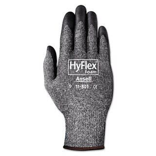 AnsellPro HyFlex Foam Gloves Dark Grey/Black Size 10 12 Pairs