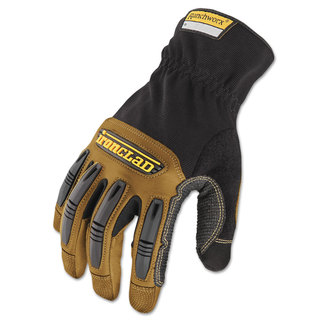 Ironclad Ranchworx Leather Gloves Black/Tan Medium