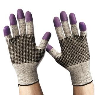 Jackson Safety G60 Purple Nitrile Gloves Medium/Size 8 Black/White 12 Pair/Carton