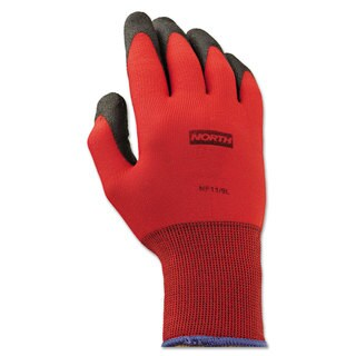 North Safety NorthFlex Red Foamed PVC Gloves Red/Black Size 9L 12 Pairs