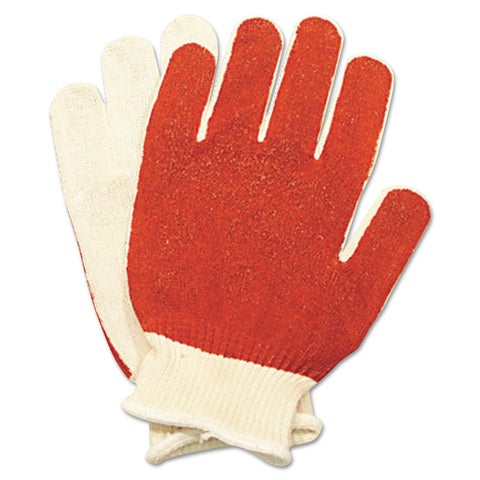 North Safety Smitty Nitrile Palm Coated Gloves White/Red Medium 12 Pairs