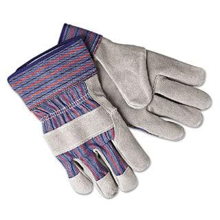 Memphis Select Shoulder Split Cow Gloves Blue/Grey Large 12 Pairs