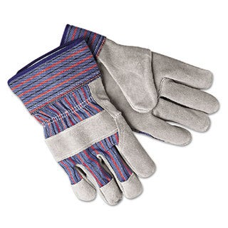 Memphis Select Shoulder Split Cow Gloves Blue/Grey Large 12 Pairs