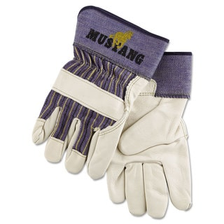 Memphis Mustang Leather Palm Gloves Blue/Cream Extra Large Dozen