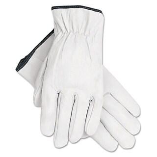 Memphis Grain Goatskin Driver Gloves White Extra-Large 12 Pairs
