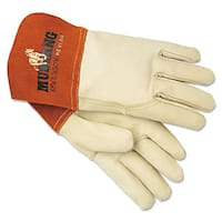 Memphis Mustang MIG/TIG Leather Welding Gloves White/Russet Large 12 Pairs