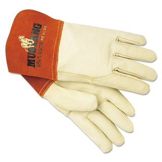 Memphis Mustang Mig/Tig Welder Gloves Tan Medium 12 Pairs