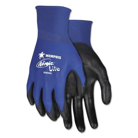 Memphis ULettera Tech Tactile Dexterity Work Gloves Blue/Black Medium 1 dozen