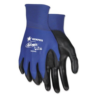 Memphis ULettera Tech Tactile Dexterity Work Gloves Blue/Black Medium 1 dozen