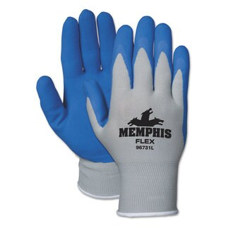 Memphis Memphis Flex Seamless Nylon Knit Gloves Extra Large Blue/Grey Dozen