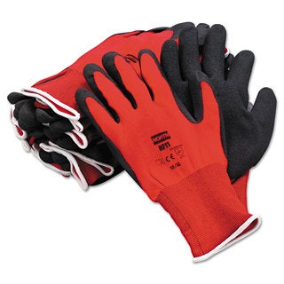 North Safety NorthFlex Red Foamed PVC Gloves Red/Black Size 10XL 12 Pairs