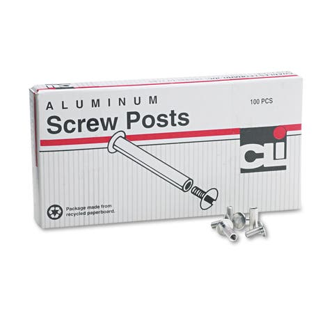 Charles Leonard Post Binder Aluminum Screw Posts 3/16-inch Diameter 1/2-inch Long 100/Box