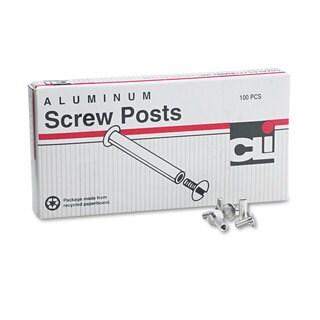 Charles Leonard Post Binder Aluminum Screw Posts 3/16-inch Diameter 1/2-inch Long 100/Box