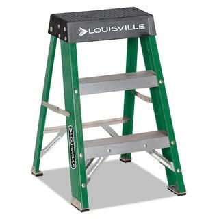 Louisville #624 Folding Fiberglass Locking 2-Step Stool 17-inch wide x 22 Spread x 24-inch high