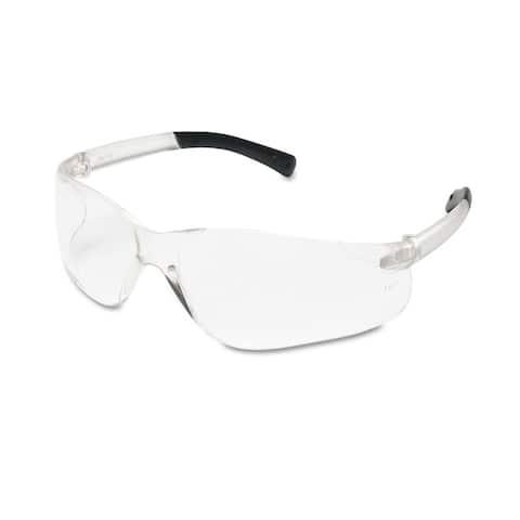 Crews BearKat Safety Glasses Wraparound Black Frame/Clear Lens