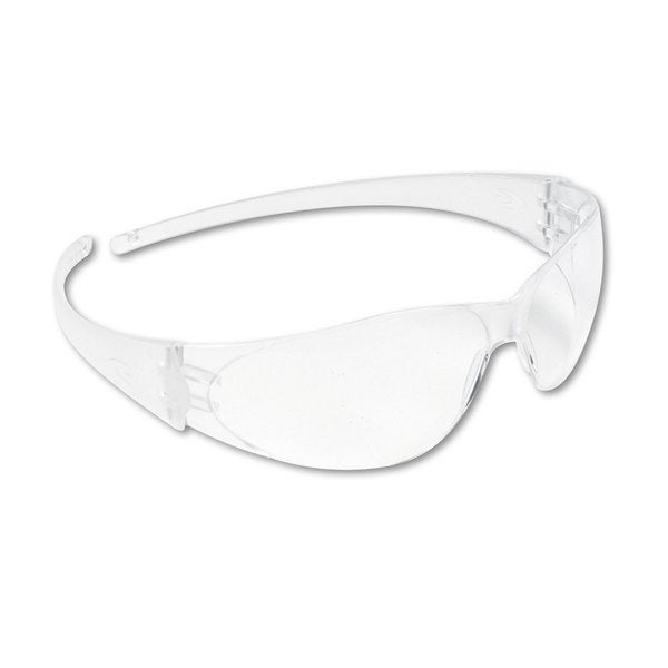 Crews Checkmate Wraparound Safety Glasses CLR Polycarbonate Frame Coated Clear Lens