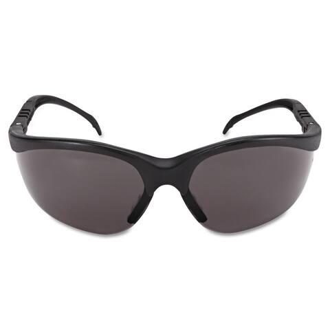 Crews Klondike Safety Glasses Matte Black Frame Grey Lens