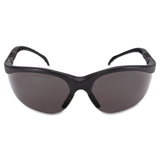 Crews Klondike Safety Glasses Matte Black Frame Grey Lens