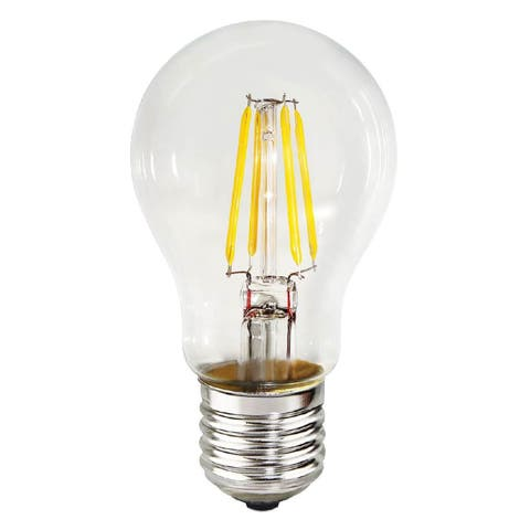 Goodlite 7W A19 LED Dimmable Clear Light Bulb, 60W Equivalent 850 Lumens E26 Base (Pack of 10)