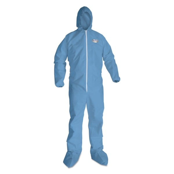 KleenGuard A65 Hood & Boot Flame-Resistant Coveralls Blue 2XL 25/Carton