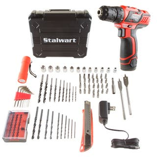 Stalwart 12V Lithium Ion 75 Pc 2 Speed Drill and Accessory Tool Set|https://ak1.ostkcdn.com/images/products/13937619/P20568784.jpg?impolicy=medium