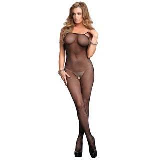 Leg Avenue Women's Black Fishnet Plus Size Bodytocking