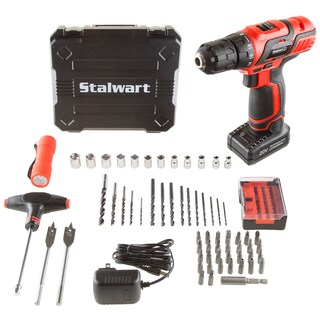 Stalwart 20V Lithium Ion 62 Pc Cordless Drill and Accessory Kit