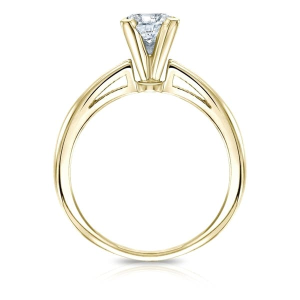 62fea514060f8 Shop Auriya 14k Gold GIA Certified 1.25-Carat TW TDW Princess-Cut ...