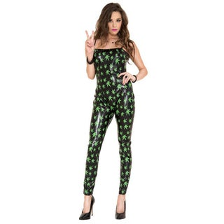 Women's Green Leaf Jumpsuit Costume