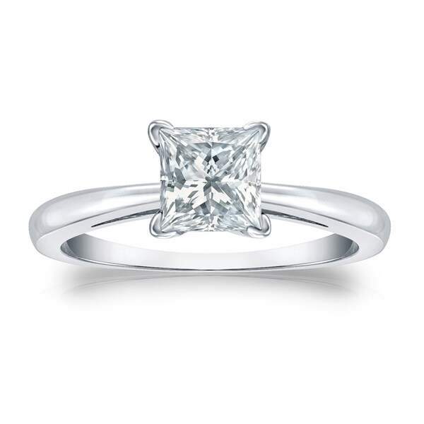 Shop Auriya Platinum GIA Certified 2 3 4-Carat TDW Princess-Cut Solitaire Diamond  Engagement Ring - On Sale - Free Shipping Today - Overstock - 13937948 3cb8fe6647b5